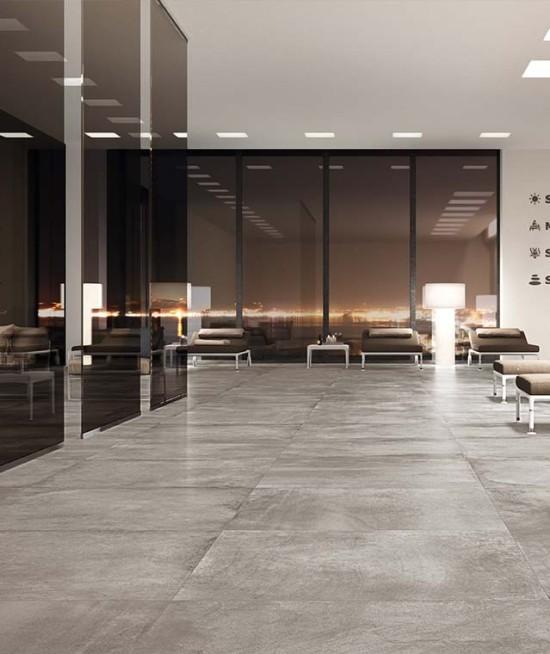 Keramische tegel - Beton kleur grey mat