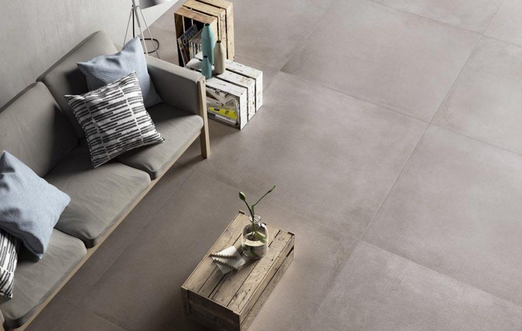 120x120 cm groot formaat keramische tegel voor woonkamer