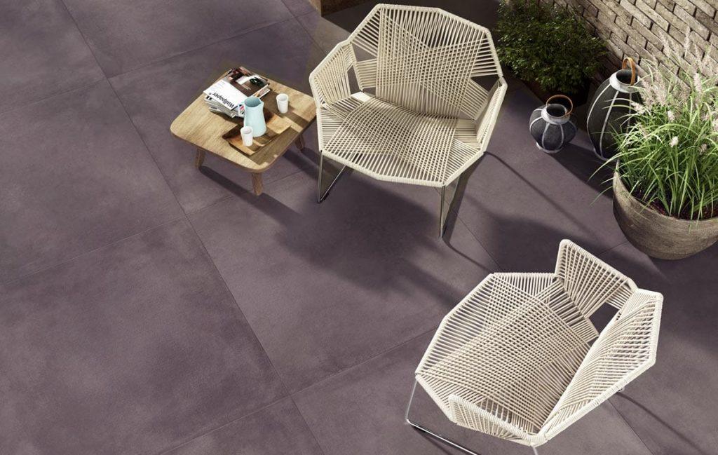 Antraciet mat keramische tegel - betonlook