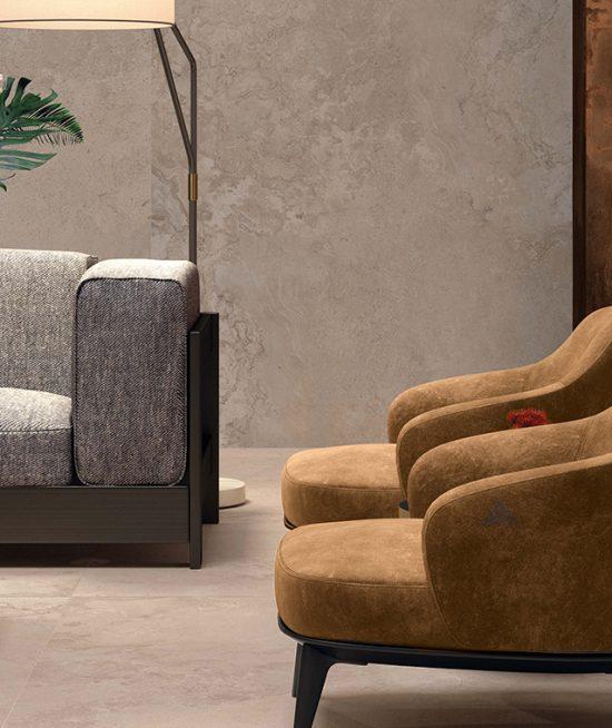 Warm sand keramische tegelplaat voor vloer en wand -120x240cm