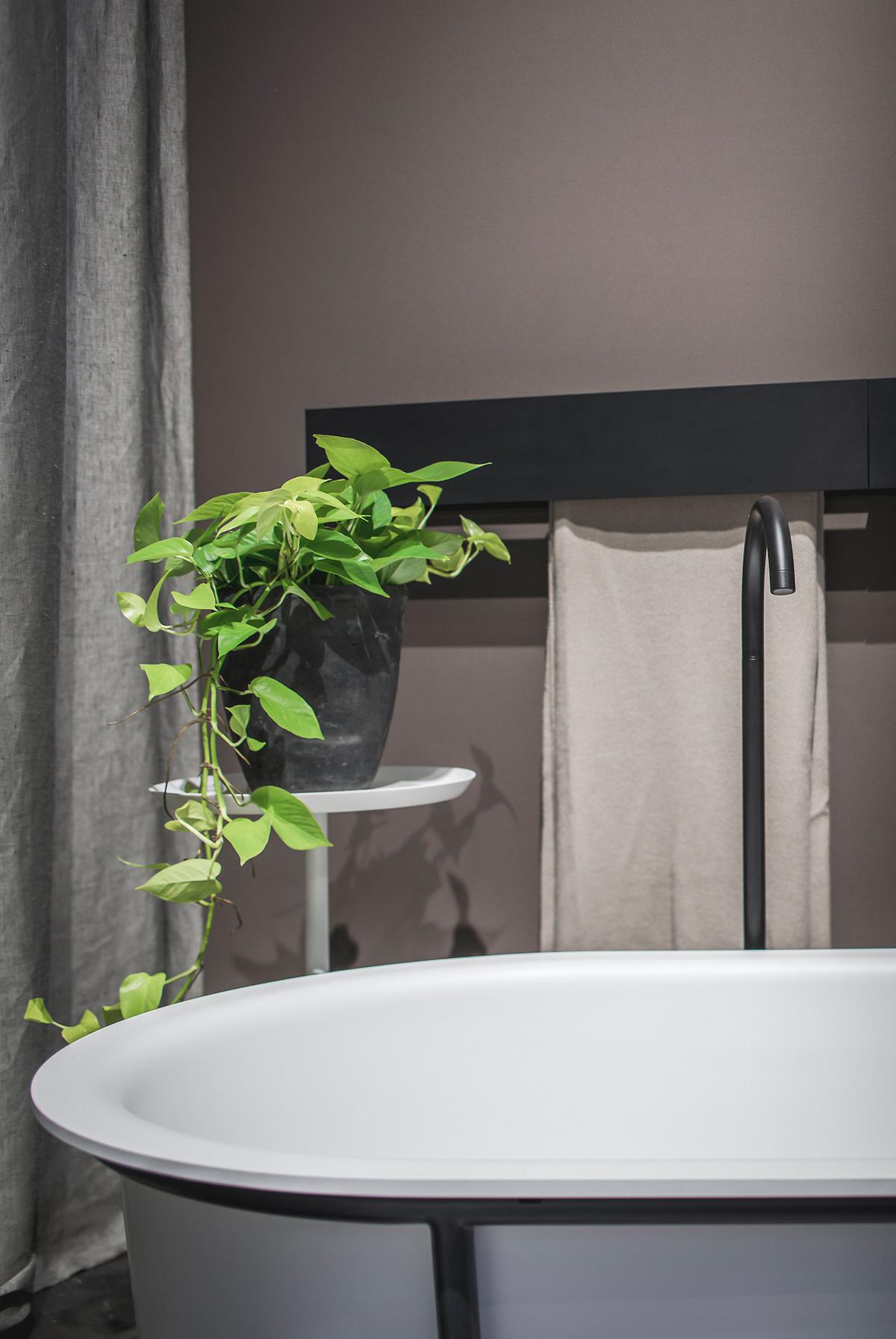 Agape Sen handdoekwarmer - Cuna freestanding bath