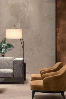 Warm Sand Keramische Tegelplaat Voor Vloer En Wand - 120x140cm