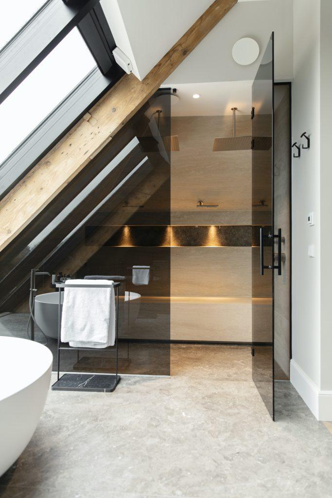 Exclusieve badkamer met sauna